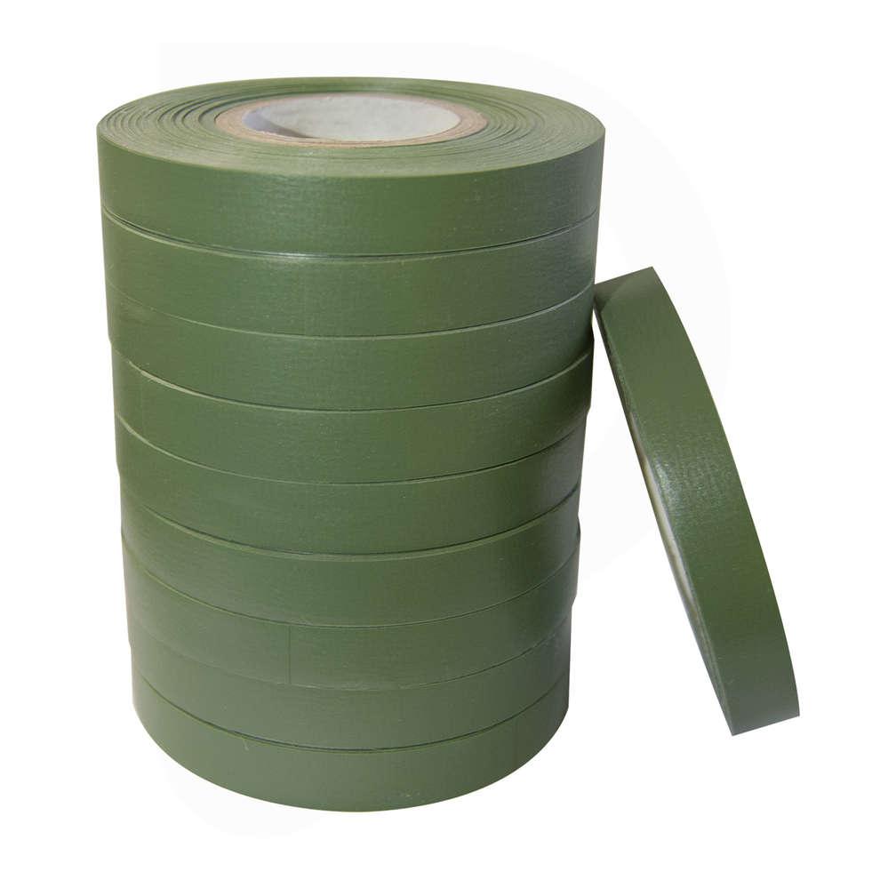 Cinta de pvc verde para atadora 0,15 - 26 m (10 pz)