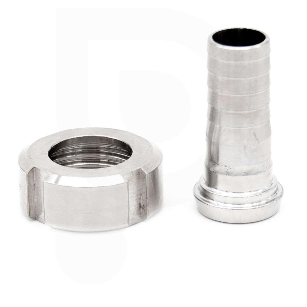 Conector de manguera DIN 15 M con torsión para manguera ⌀ 20