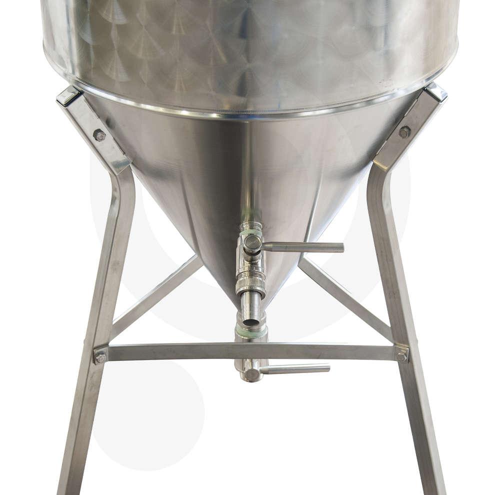 Conical trunk beer fermenter 60° 75 L