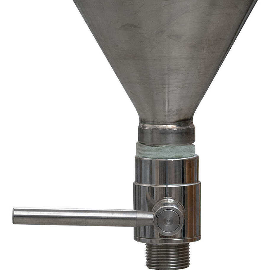 Conical trunk for wine 60° 300 L with air floating lid