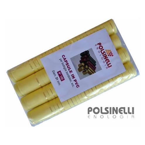 Cream PVC capsule ⌀31 (100 pcs)