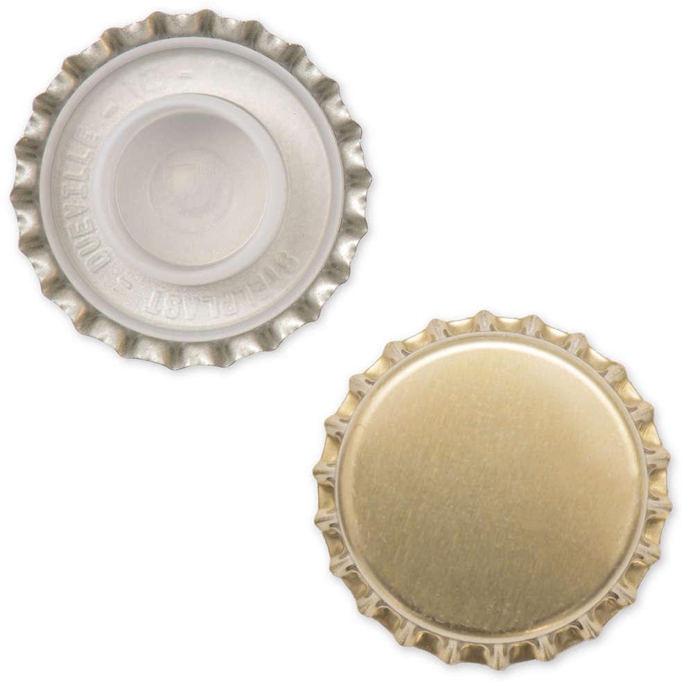 Crown cap golden with  bidule ⌀29 (200 pcs)