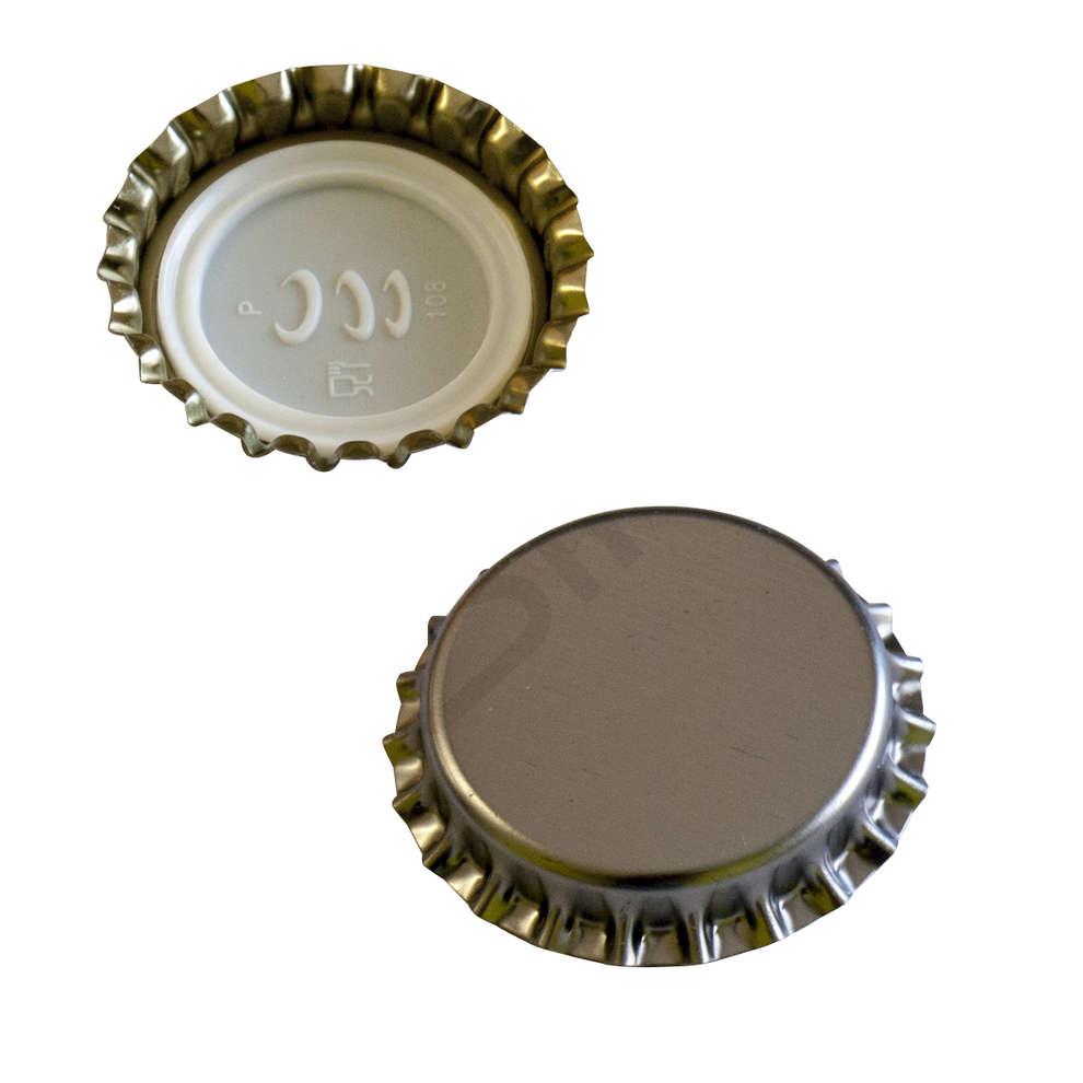 Crown cap INOX with bidule Ø29 (200 pcs)