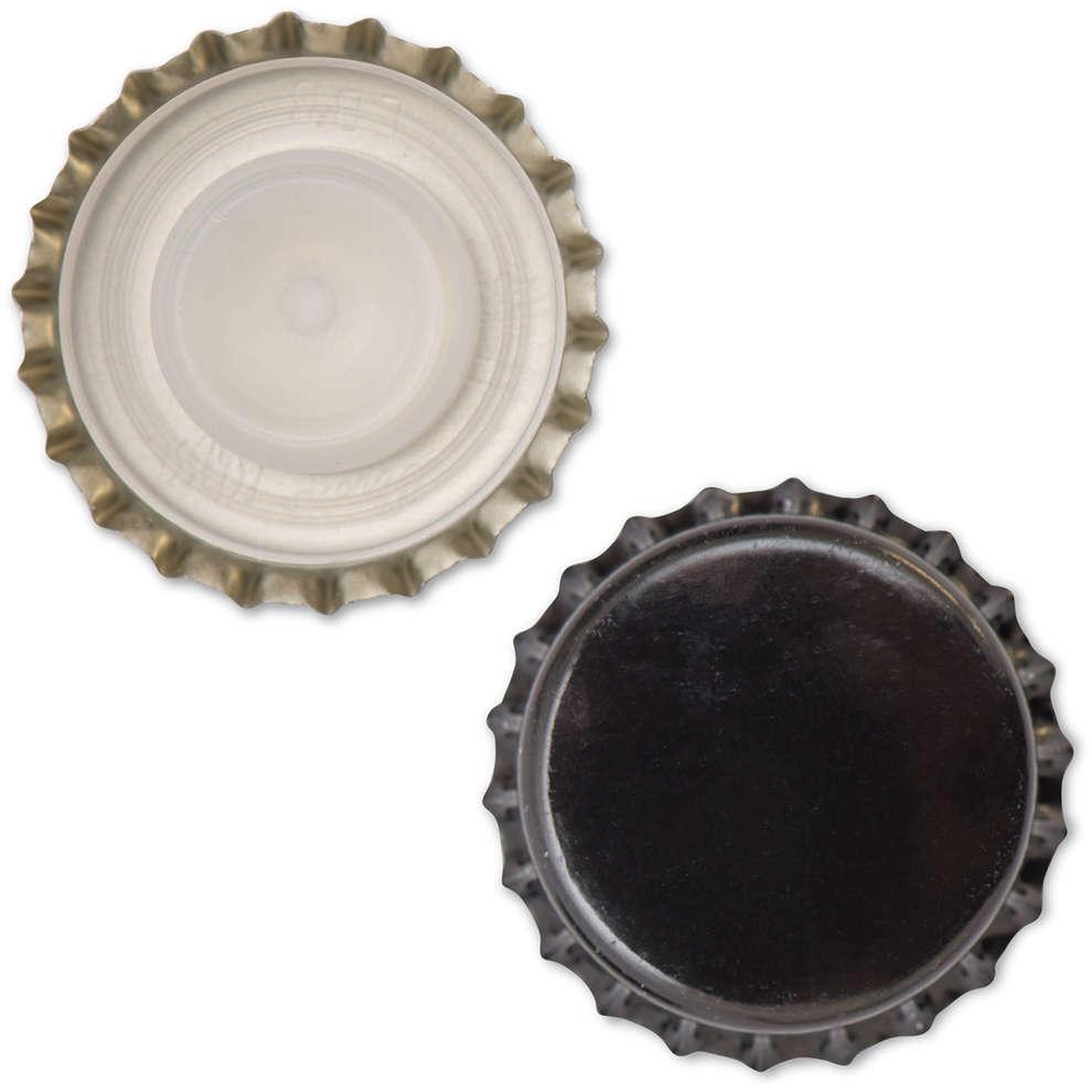 Crown cap with inner cap black ⌀29 (200 pcs)