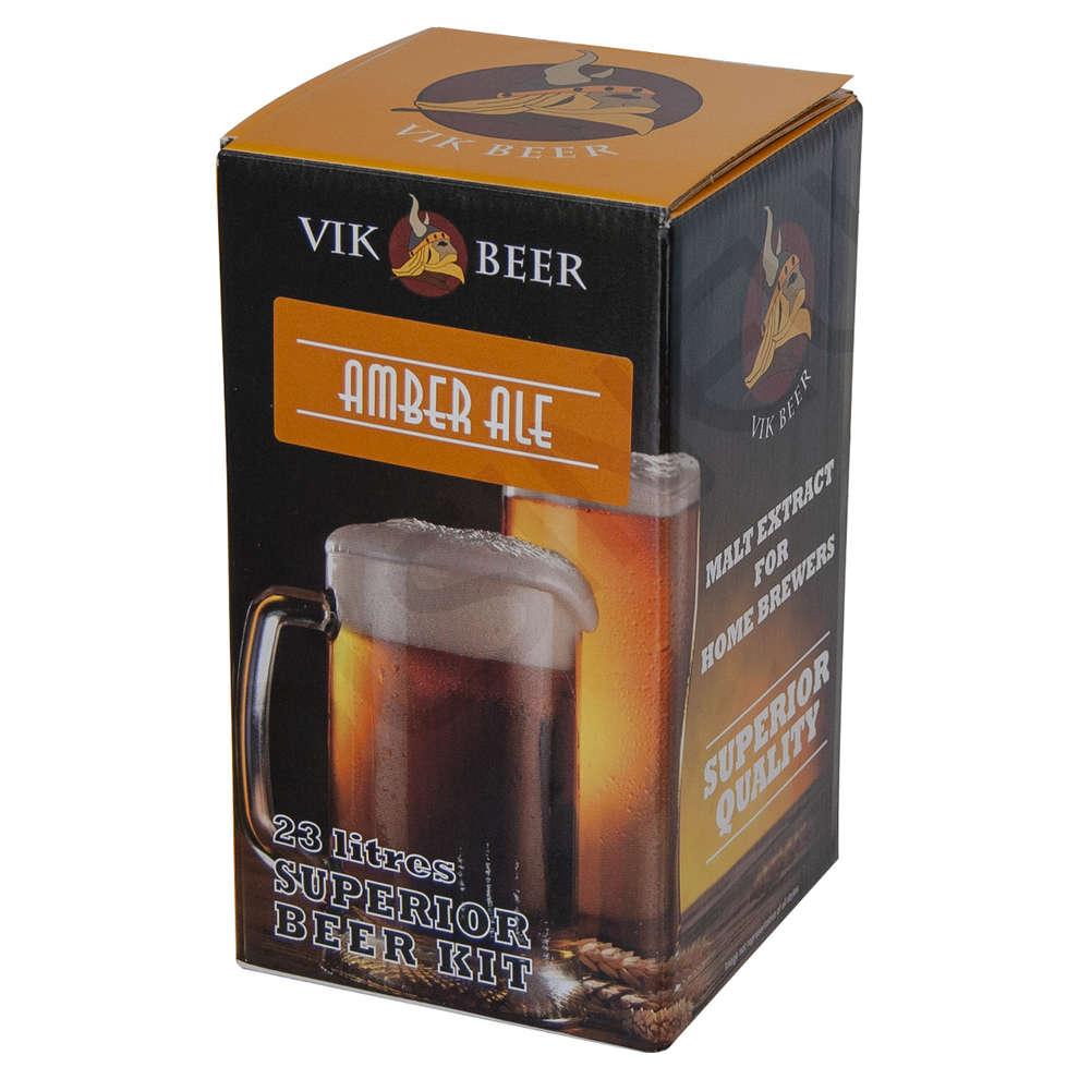 Cuatro de malta Vik Beer Amber Ale con lúpulo (1,7 kg)