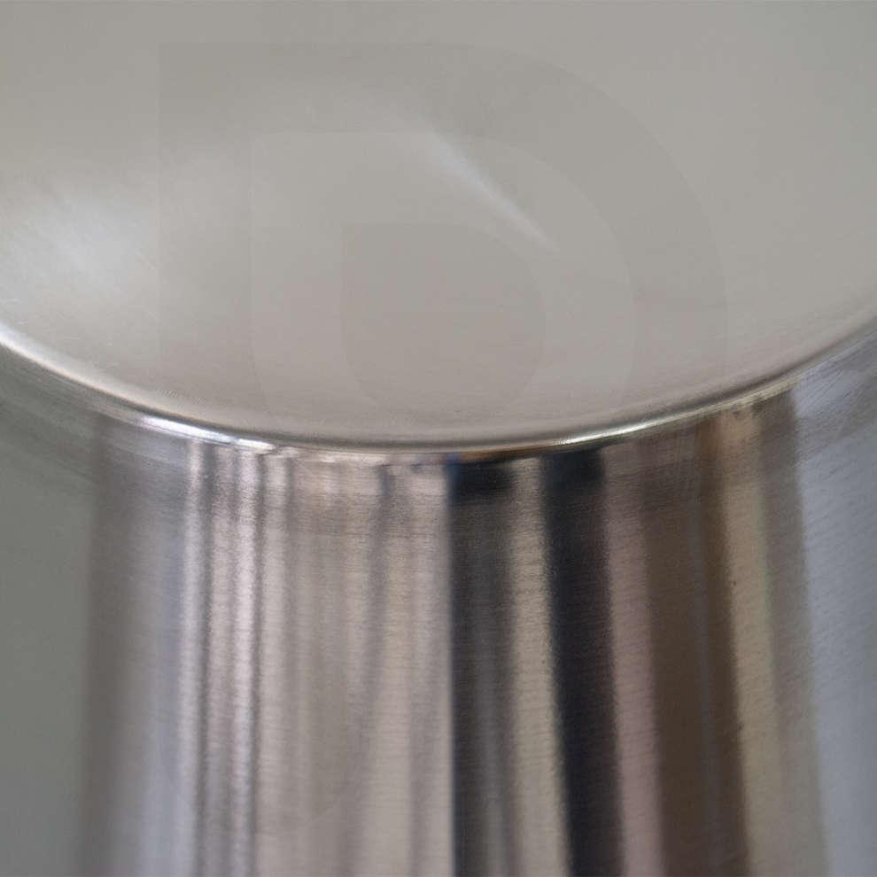 Cubo graduado de acero inoxidable de 10  L