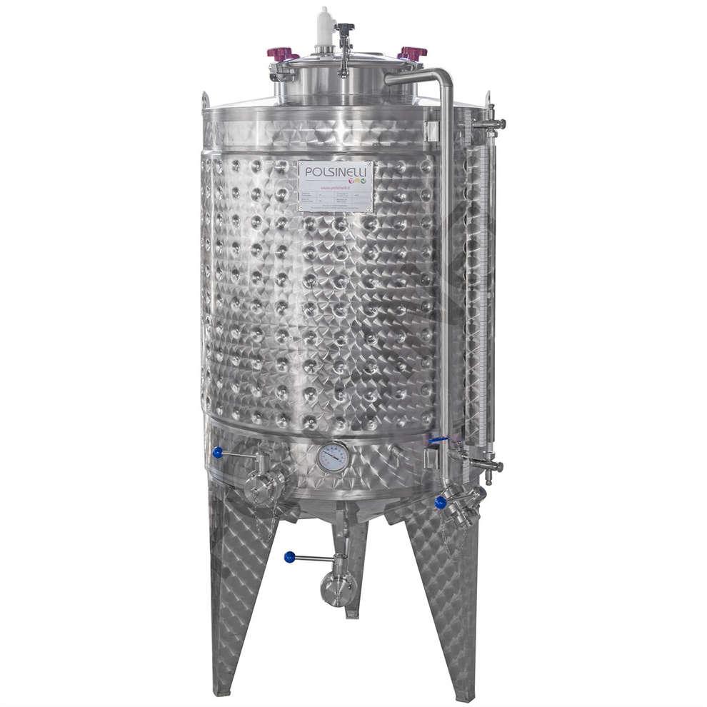 Cuve de fermentation réfrigérée à fond conique 750 L