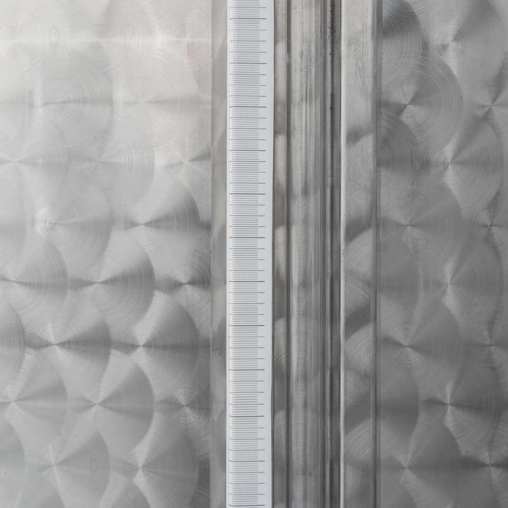 Cuve de stockage inox à fond conique 5000 L avec trappe de vidange