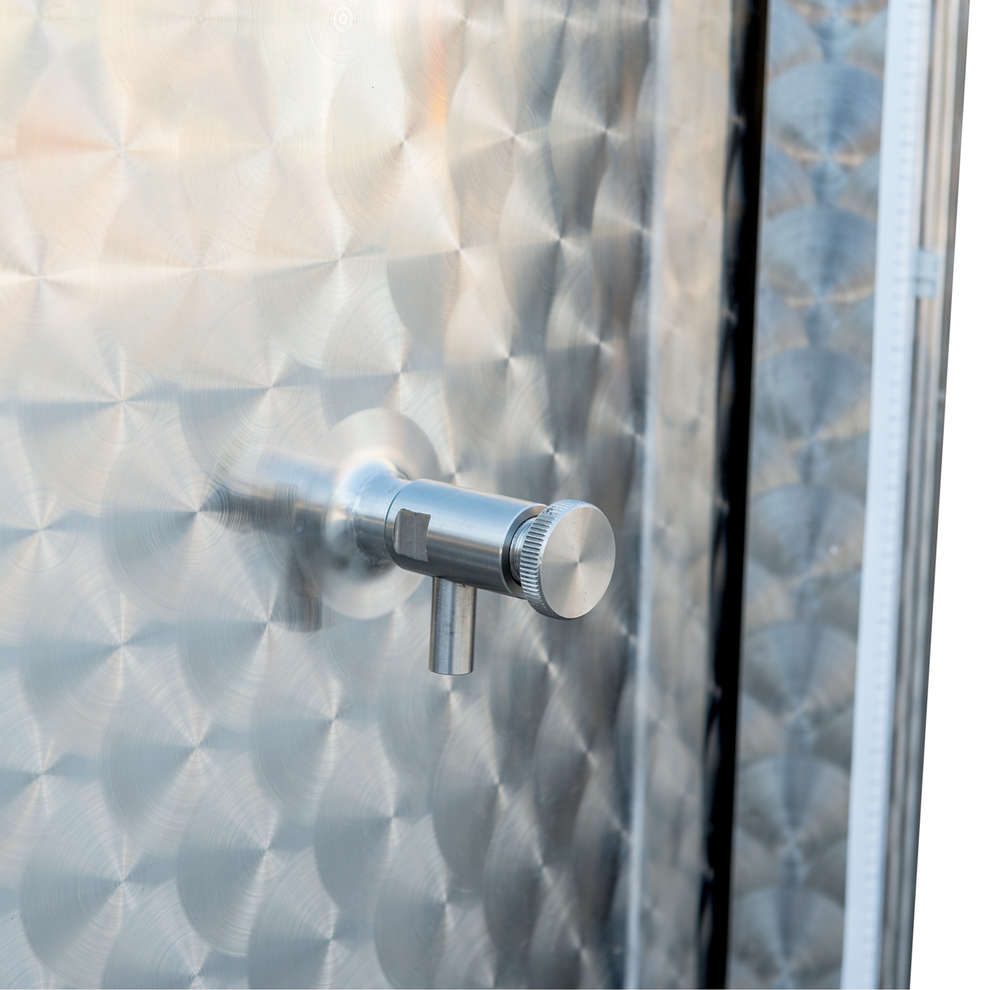 Cuve de stockage inox réfrigérée à fond conique  avec trappe de vidange 2000 L