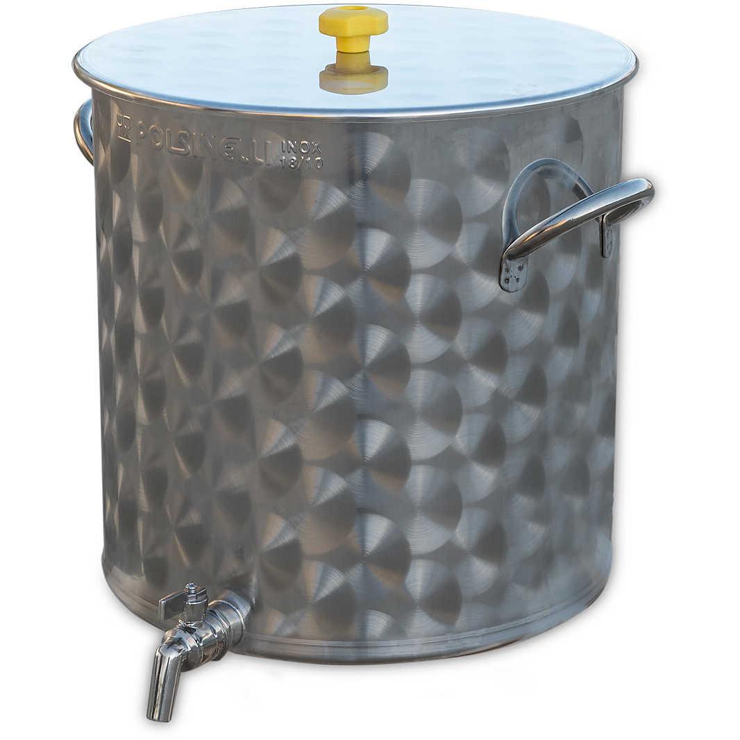 Cuve Inox 50 L Avec Robinet Biere Polsinelli Enologia