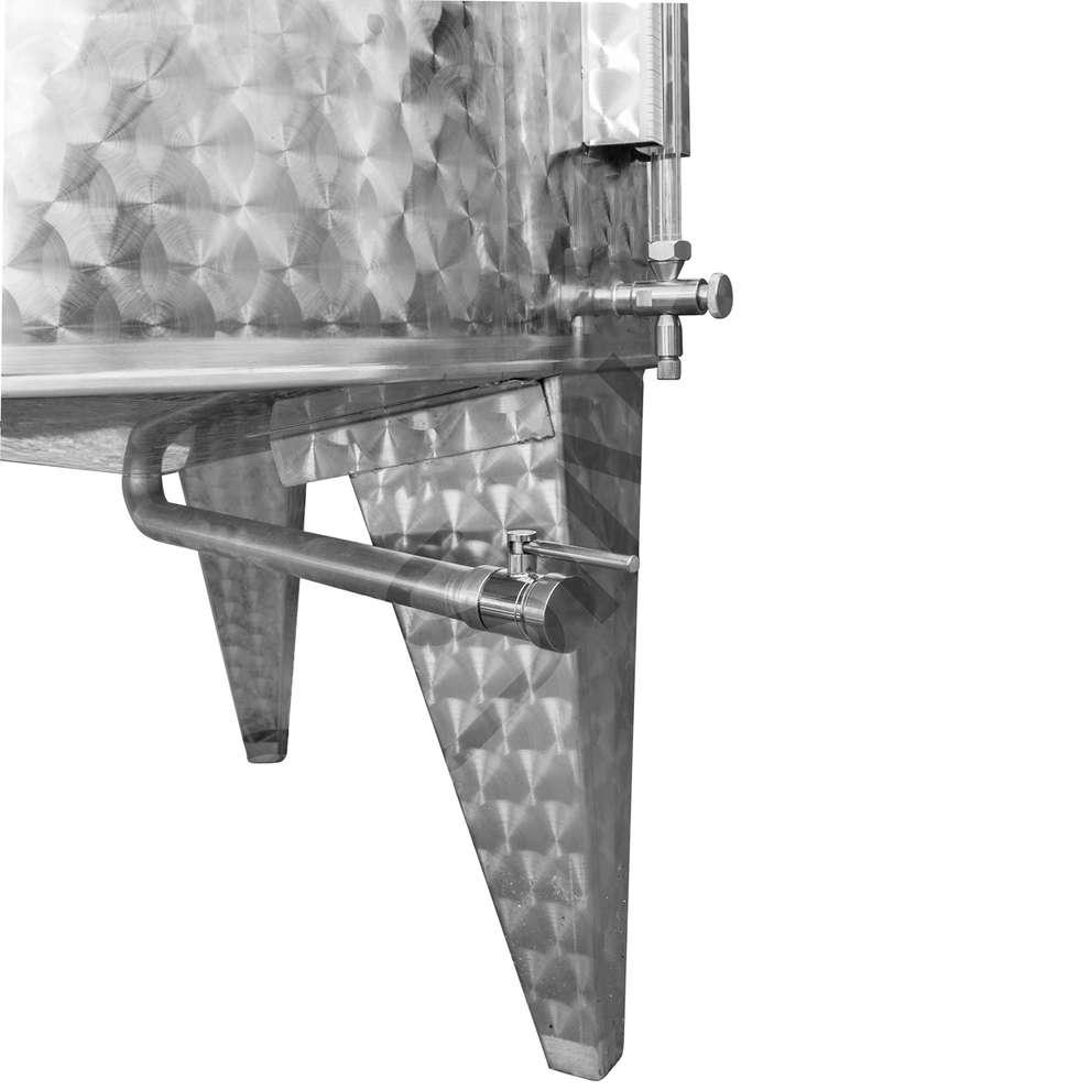 Cuve inox avec chapeau flottant à air réfrigérée à fond conique 500 Lt.