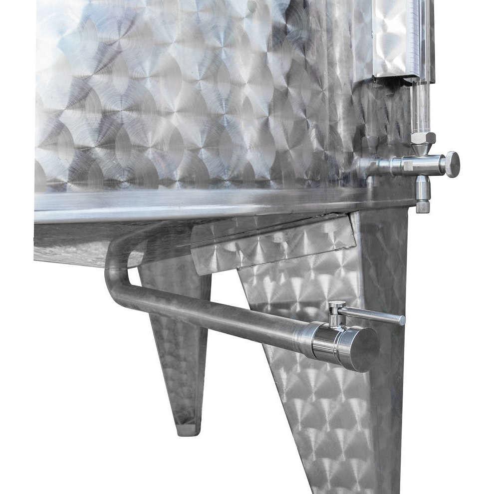 Depósito inox de fundo cónico 1000 L con flotador a aire