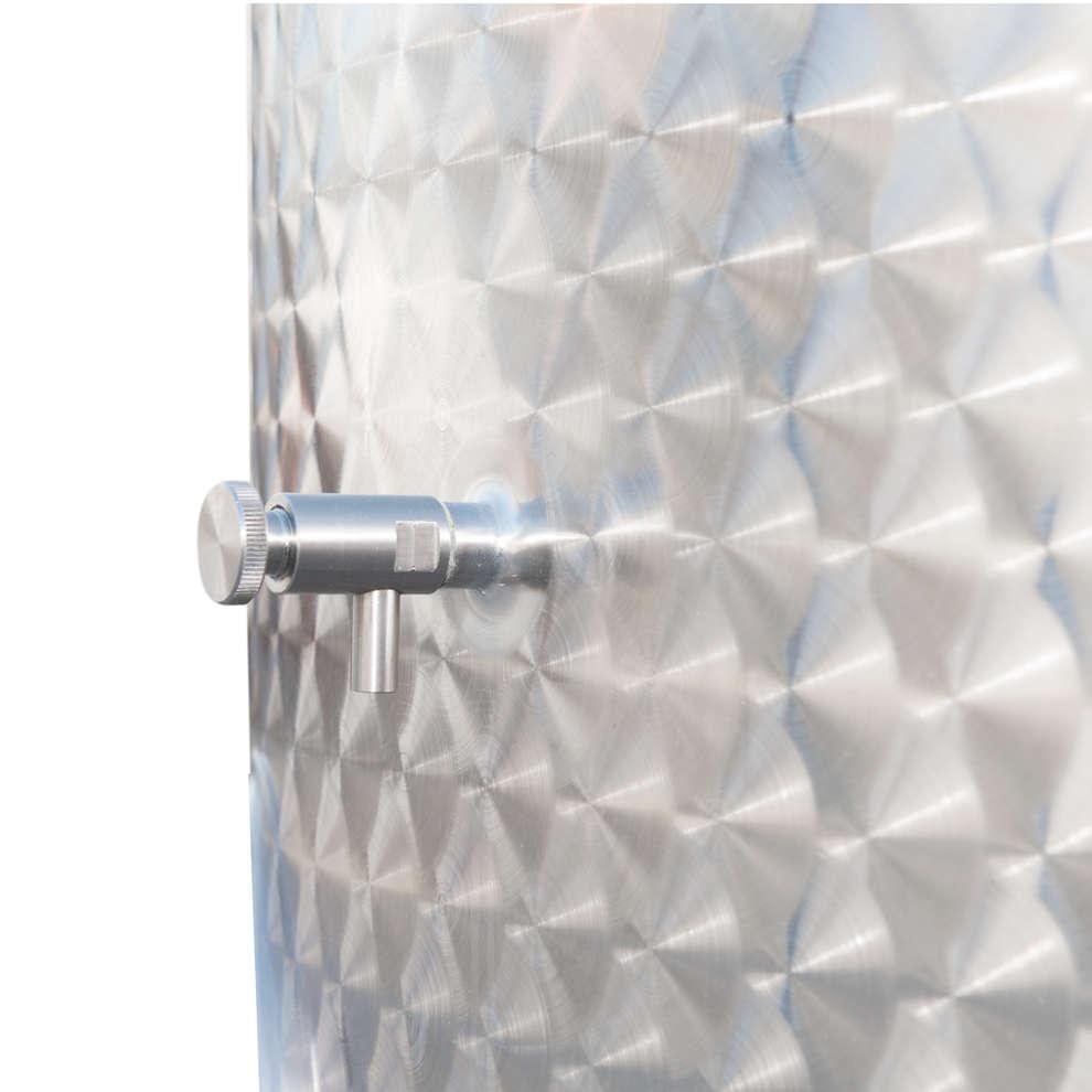 Depósito inox de fundo cónico refrigerado 3000 L con flotador a aire y puerta