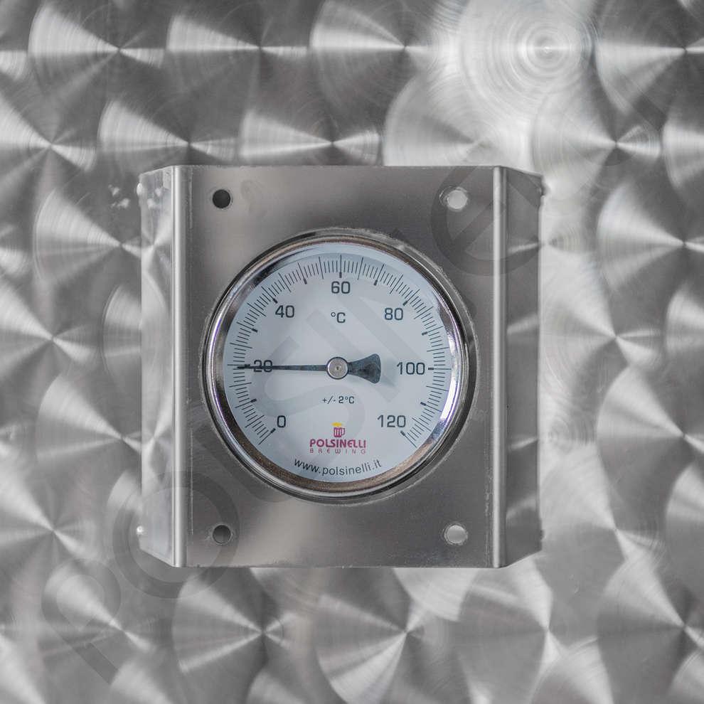 Depósito refrigerado inox fundo cónico 500 L con flotador a aire