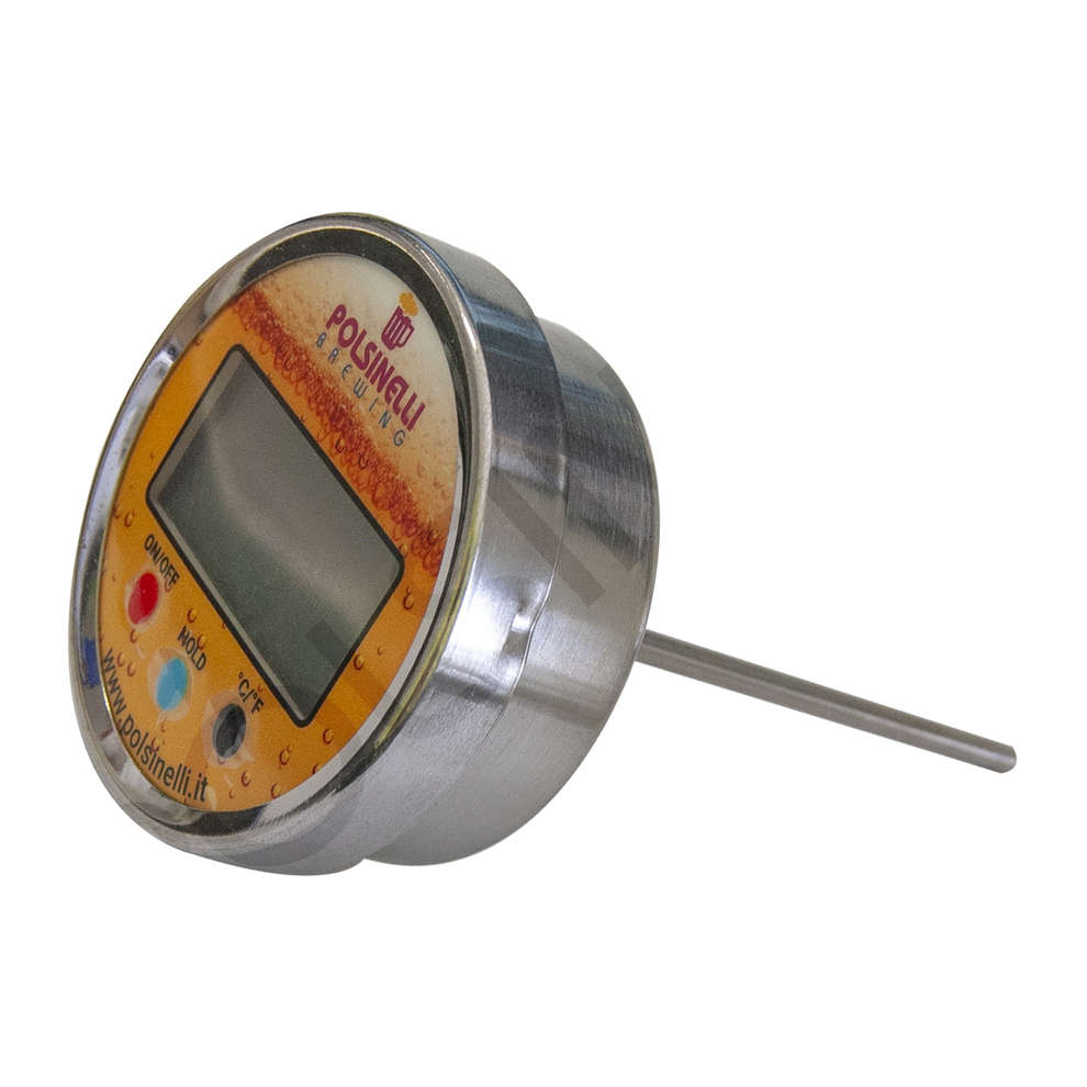 Digital thermometer with stainless steel AISI 304 cockpit - 100 mm