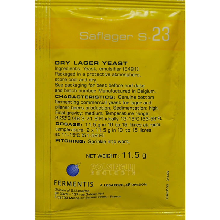 Dry yeast Fermentis Saflager S-23 (11.5 g)