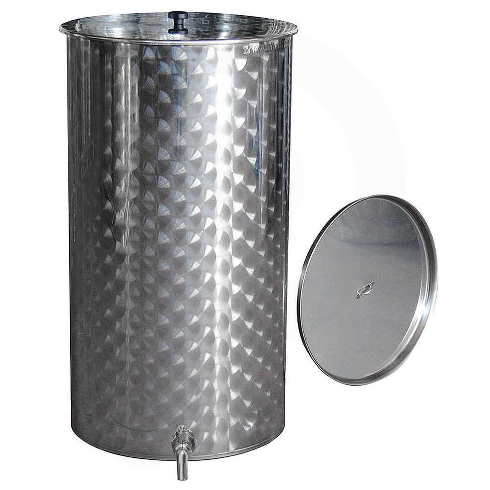 Edelstahlbehälter für Wein von 1000 Lt. mit Öl-Schwimmdeckel