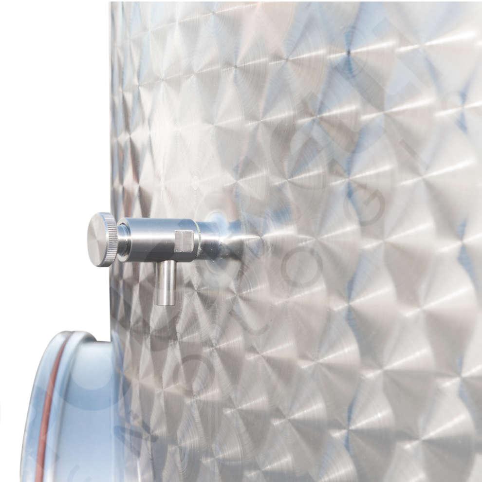 Edelstahlbehälter konischen Boden 2000 L mit Luft-Schwimmdeckel mit Türchen