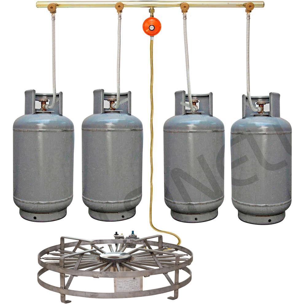 Einheit für 4 LPG Gasflaschen