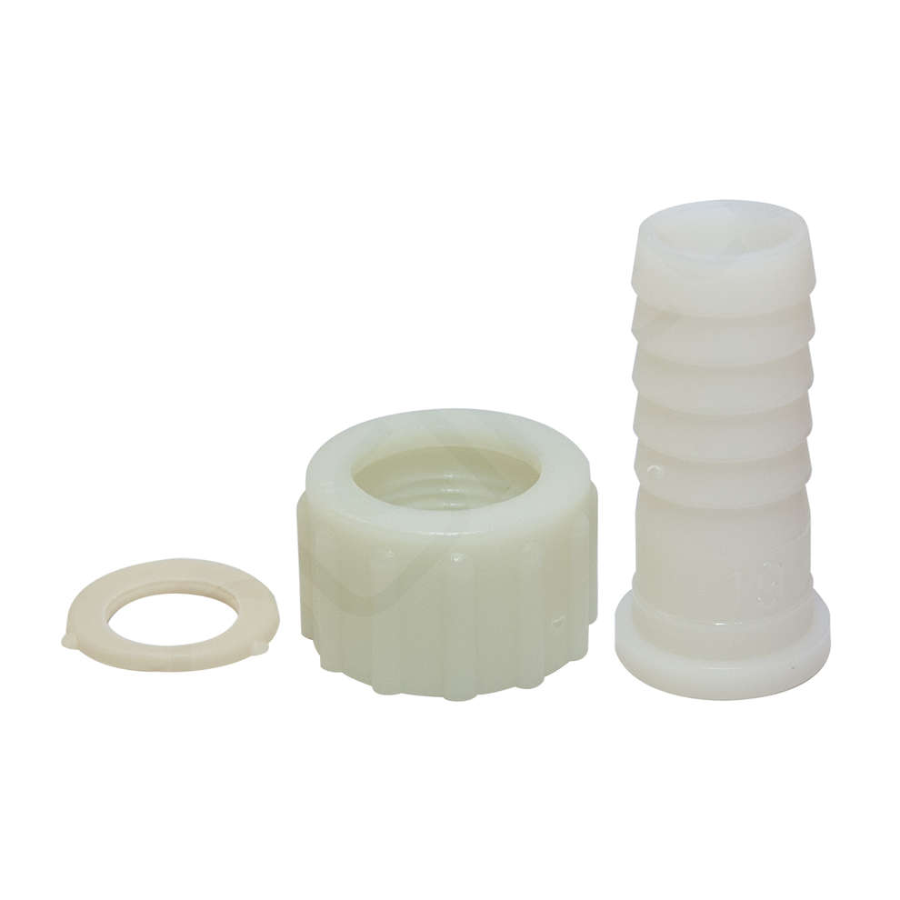 """Embout cannelé en plastique 3/4 """"d.19 (PZ 4) avec bague et joint"""