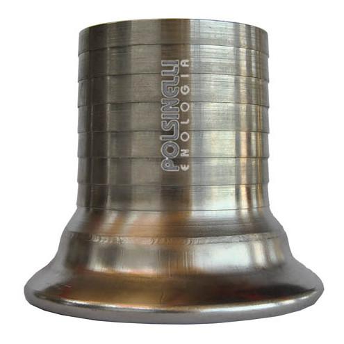 Embout cannelé réducteur inox Garolla 100 x 80