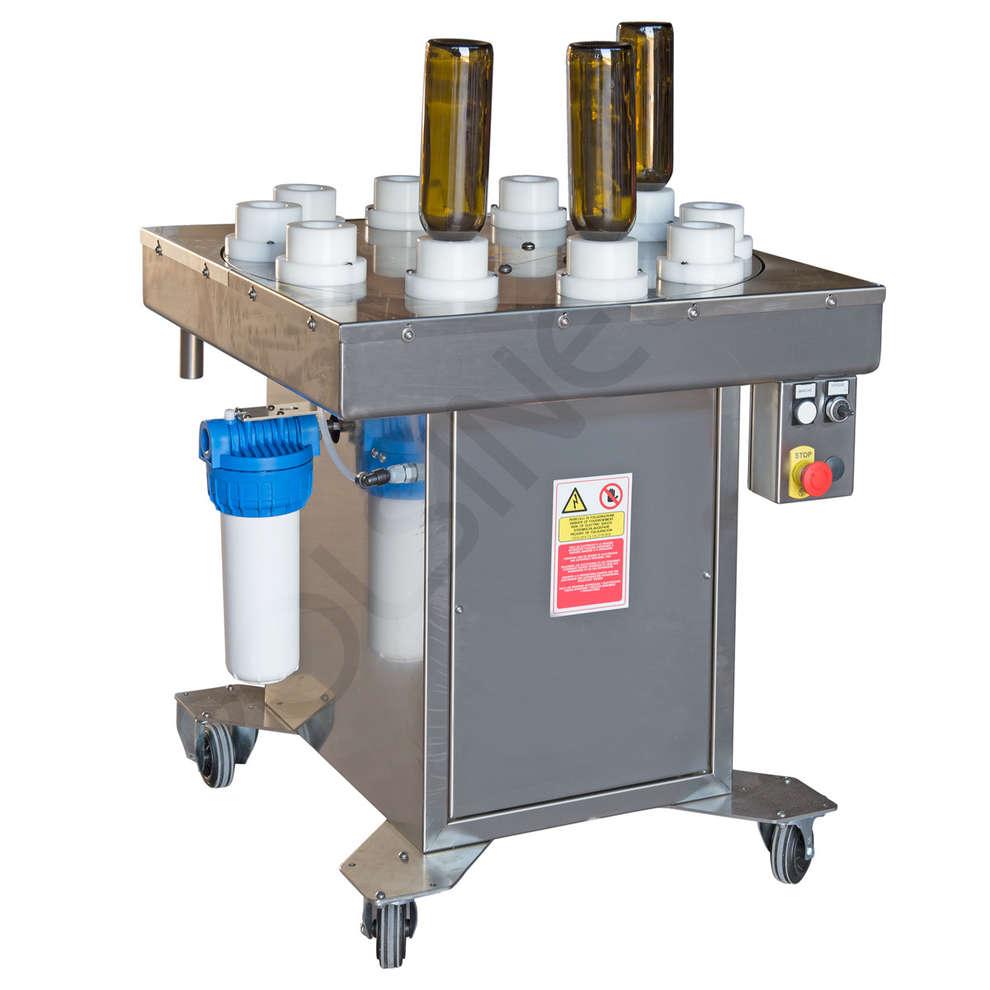 enjuagadora de botellas semiatumática P 10