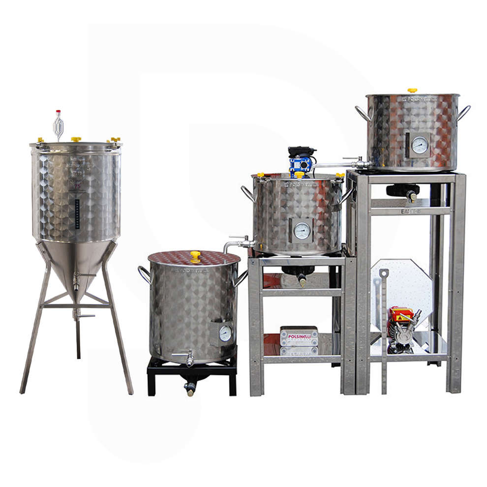 Equipo de cerveza cónico EASY 50 con fermentador tronco cónico de 60°