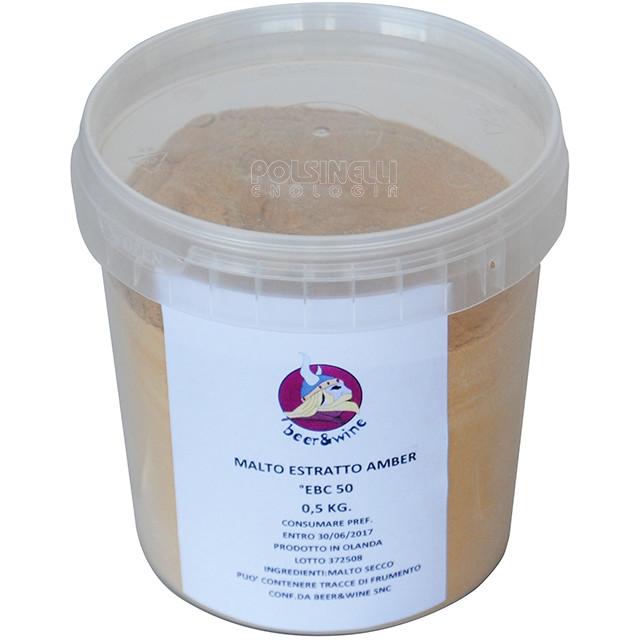 Estratto di malto secco Amber (0,5 kg)