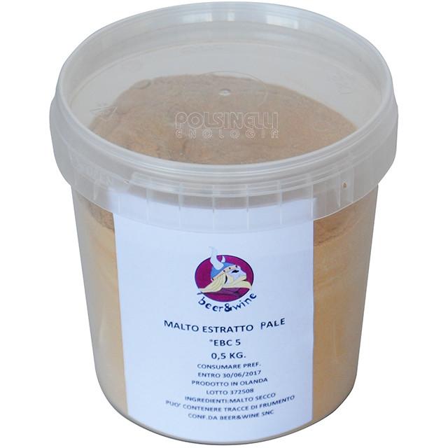 Estratto di malto secco Pale (0,5 kg)