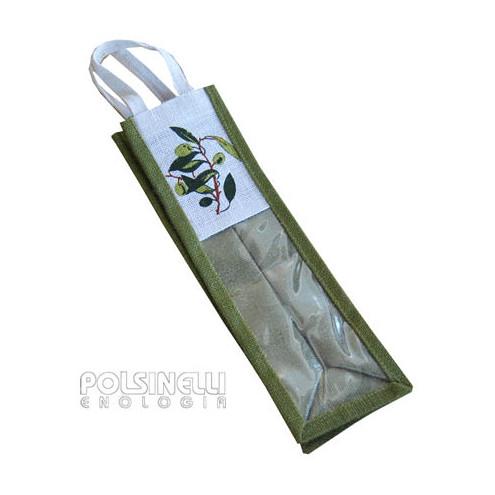"""Estuche """"Olivo"""" de yute para 1 botella de 750/1000 mL (5 unid.)"""