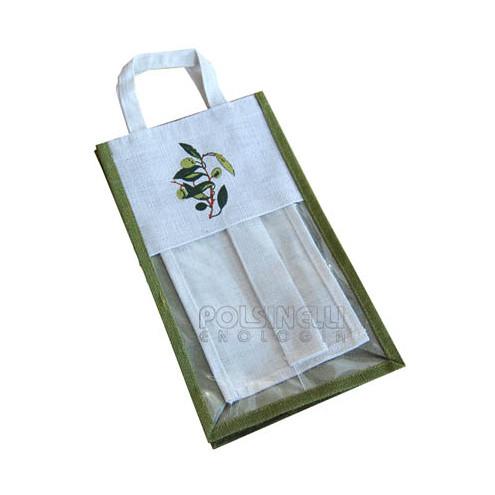 """Estuche """"Olivo"""" de yute para 2 botellas de 750/1000 mL (5 unid.)"""