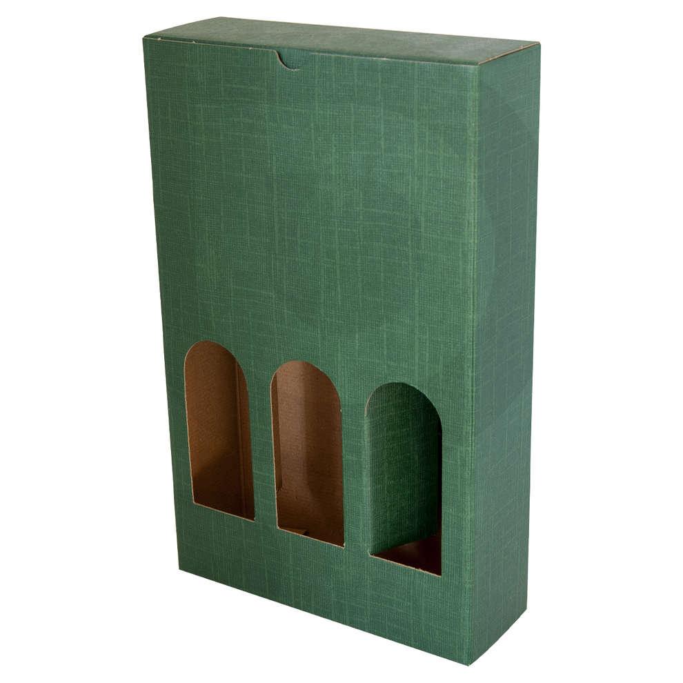 Estuche Petit verde para 3 botellas - 320h (10 unid.)