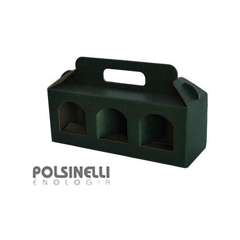 Estuche verde para 3 tarros de 212 mL (10 unid.)