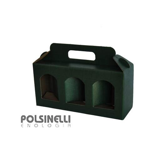 Estuche verde para 3 tarros de 314 mL (10 unid.)