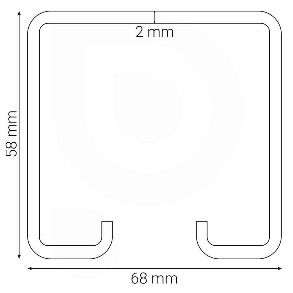 Extreme corten vineyard pole - 3 mt - 2 mm (2 pieces)