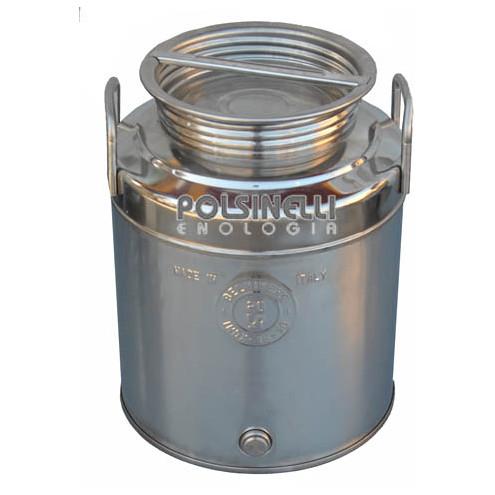 Fût inox avec fond agrafé 20 L