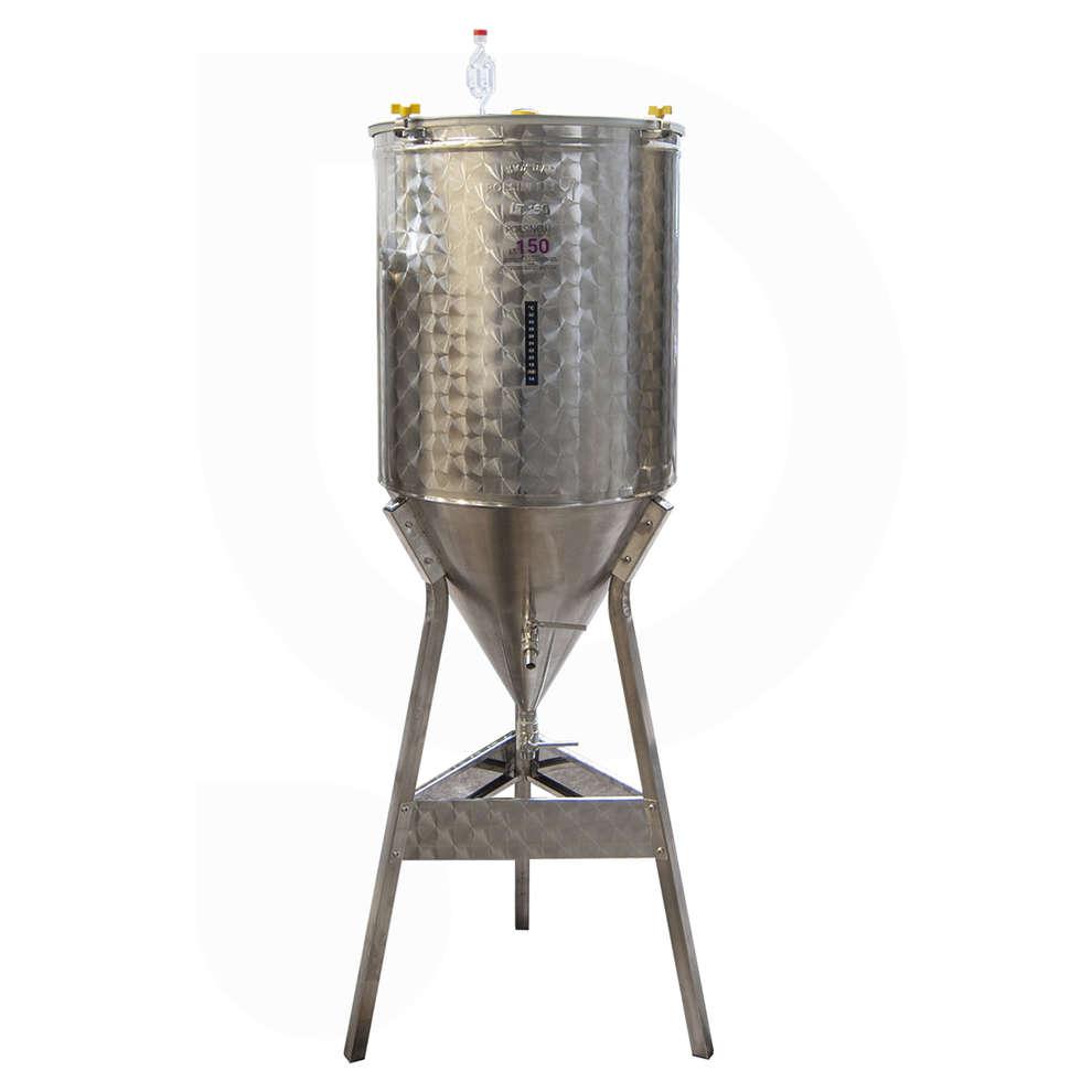 Fermentador de cerveza tronco cónico 60° 150 L
