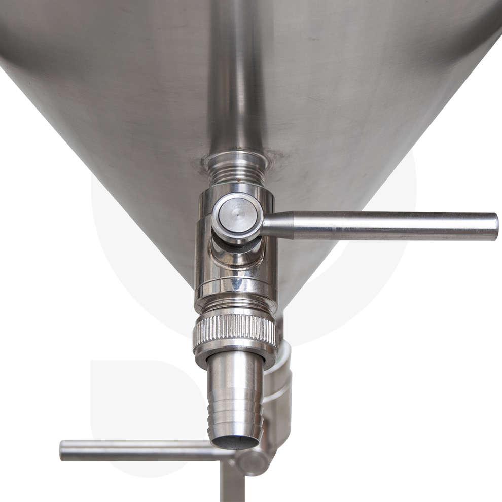Fermentador de cerveza tronco cónico 60° 50 L