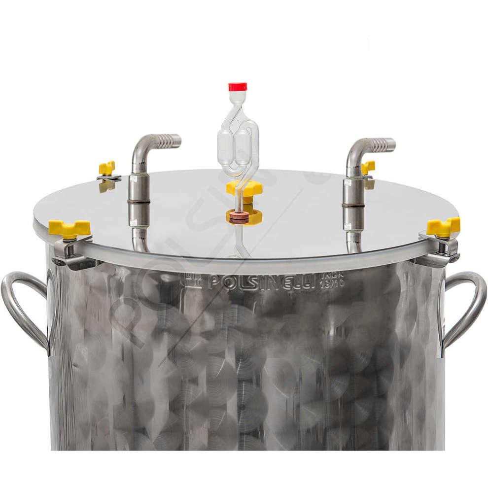 Fermentador inox refrigerado para cerveza 150 L con fundo plano