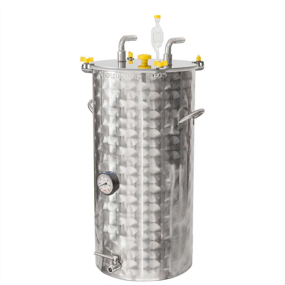 Fermentador inox refrigerado para cerveza 200 L con fundo plano