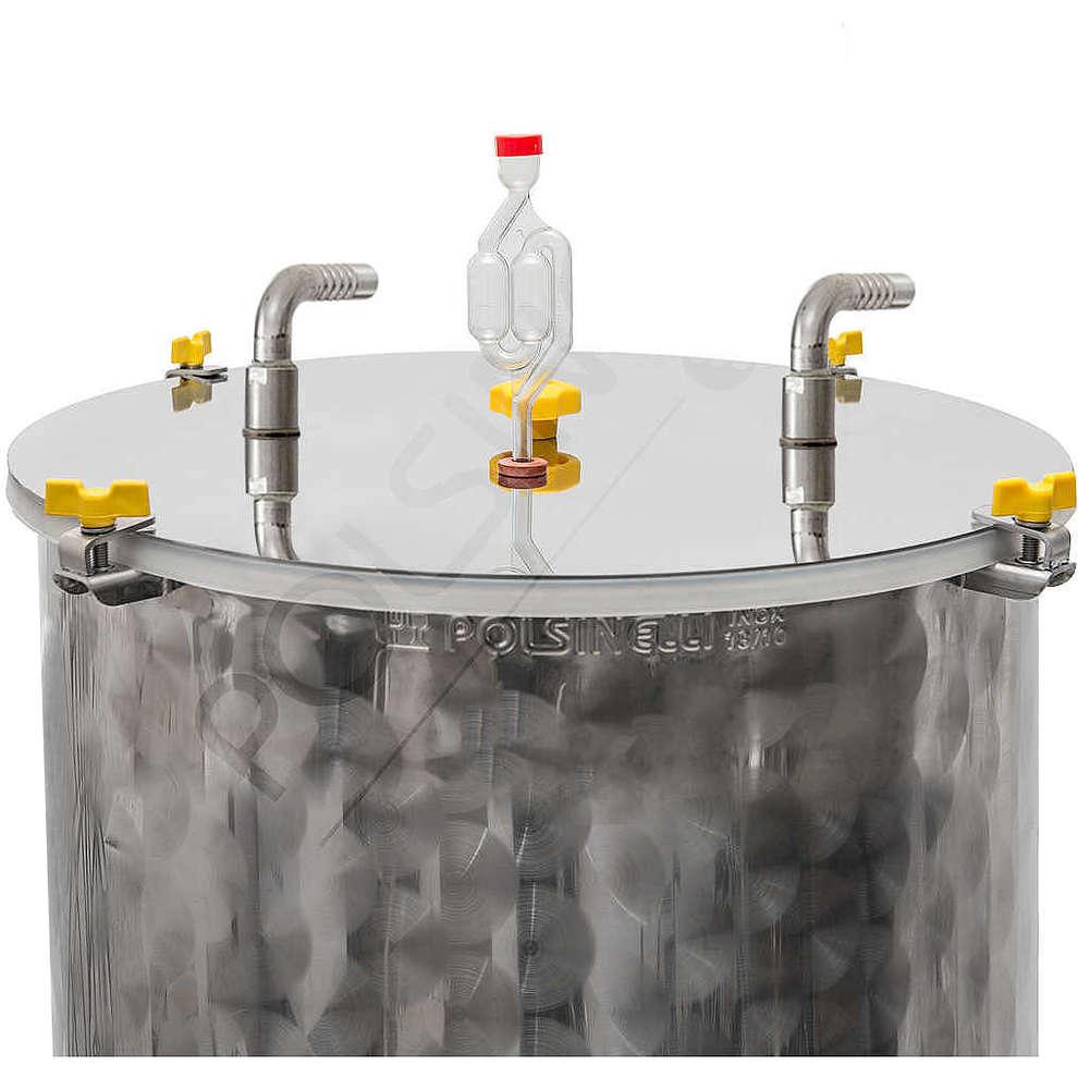 Fermentador refrigerado de cerveza tronco cónico 60° 200 L
