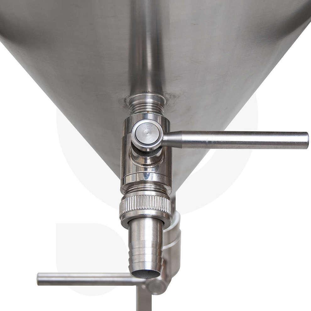 Fermentador refrigerado de cerveza tronco cónico 60° 300 L