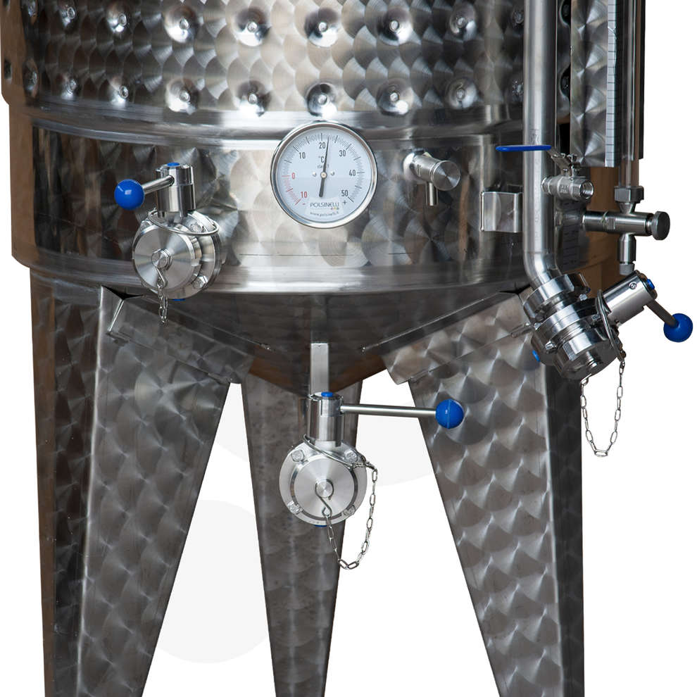 Fermentatore fondo conico refrigerato 350 L