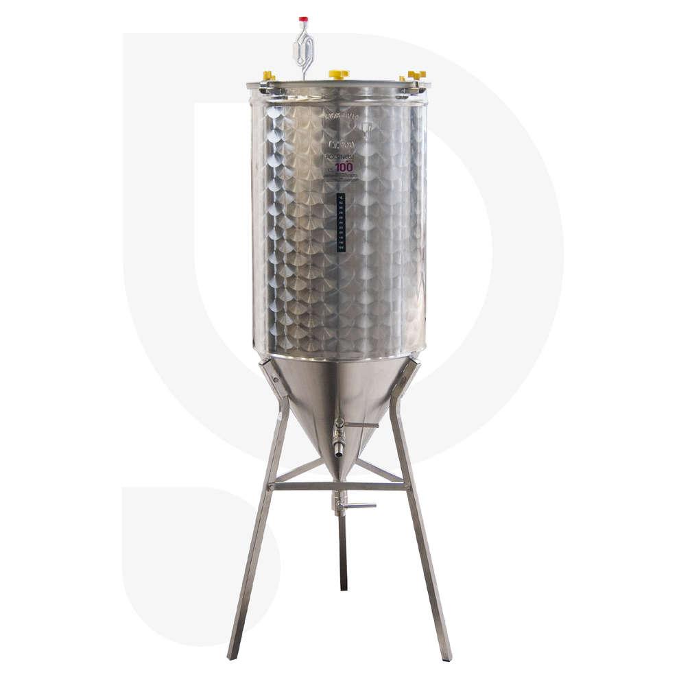 Fermentatore inox CONICO 60° 100 L