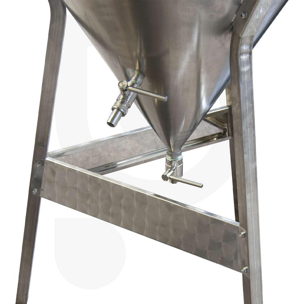 Fermentatore inox CONICO 60° 300 L