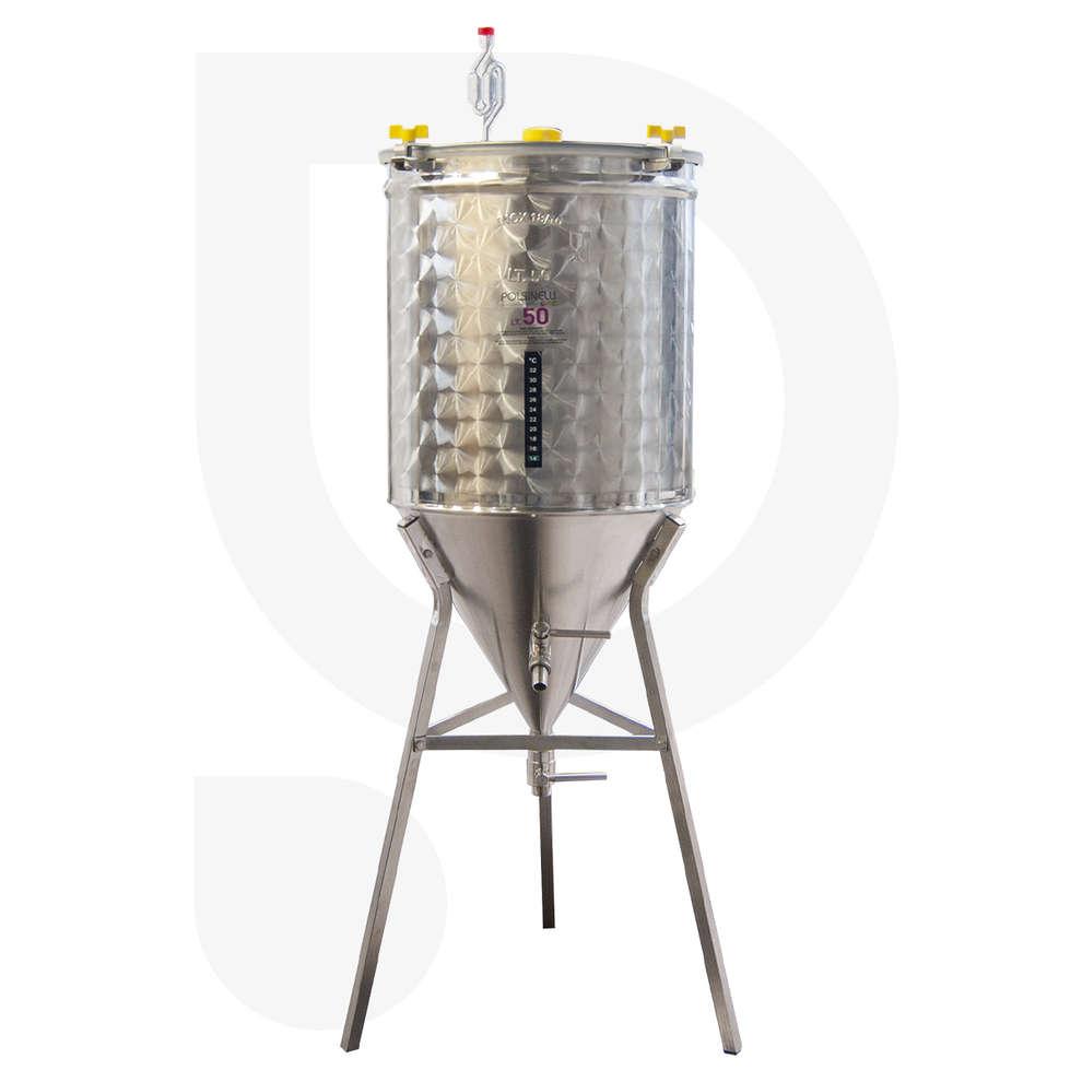 Fermentatore inox CONICO 60° 50 L