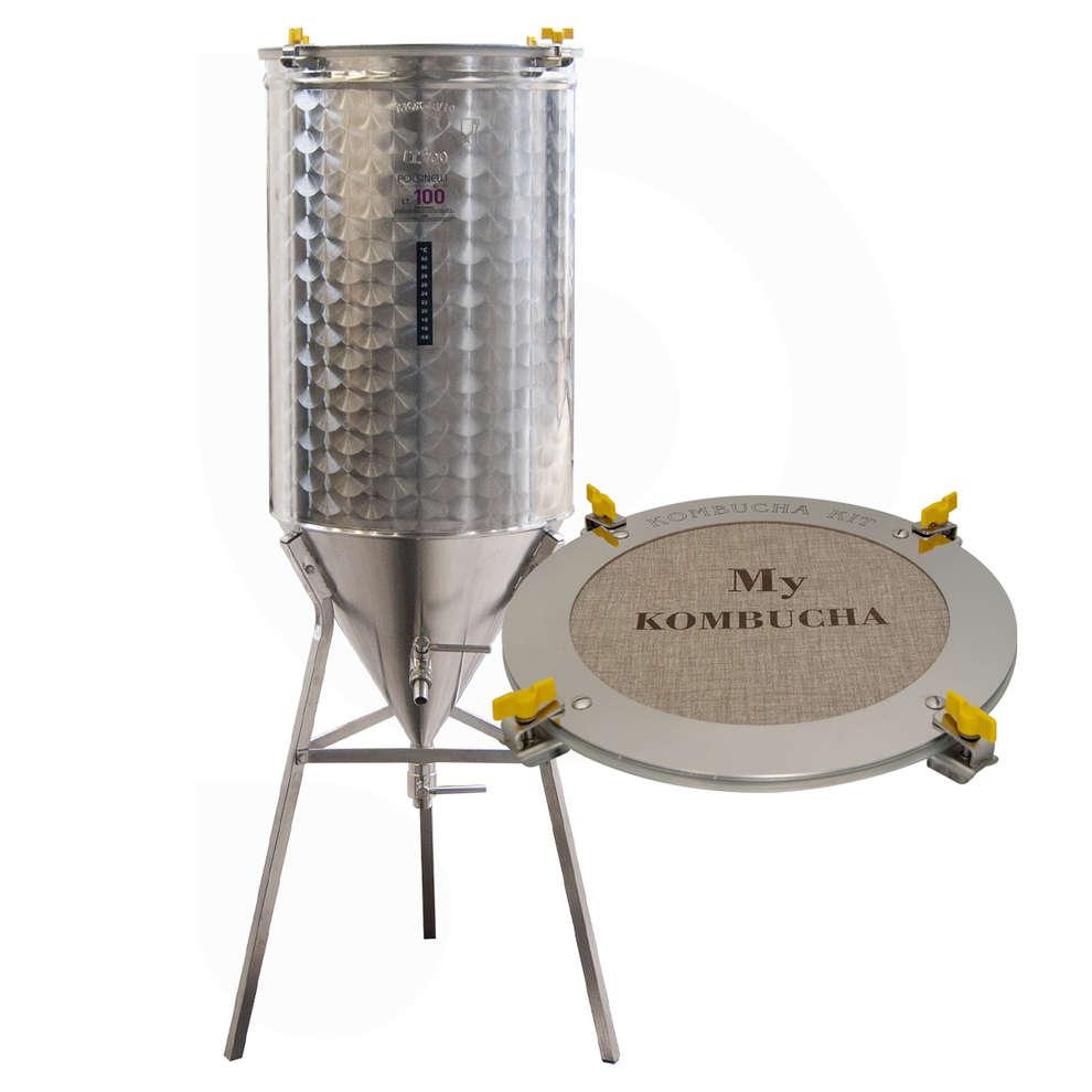 Fermentatore inox Conico 60° per Kombucha 100 L