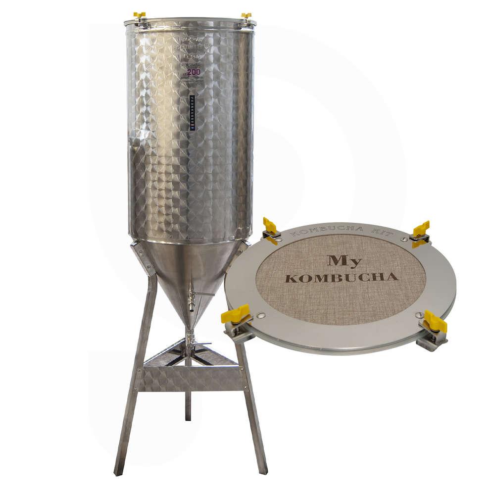 Fermentatore inox Conico 60° per Kombucha 200 L