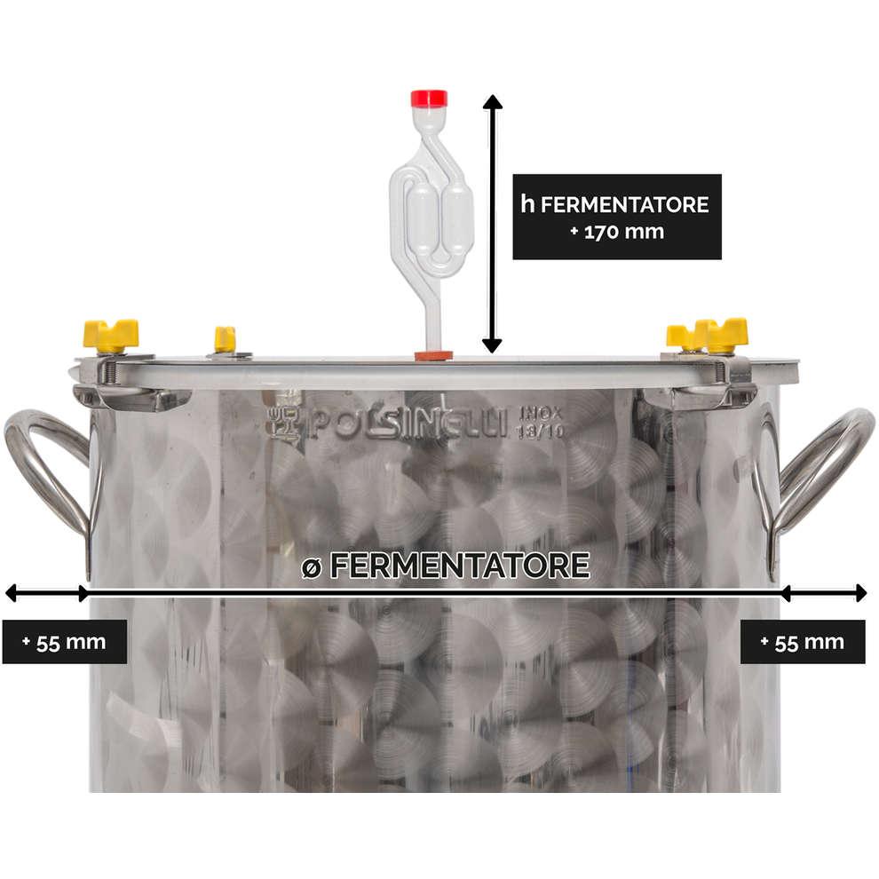 Fermentatore per birra inox 100 L