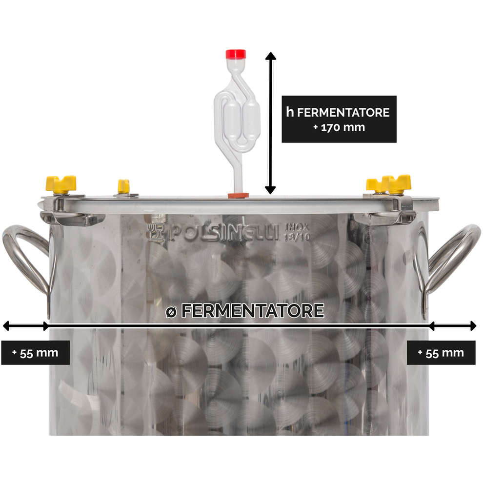 Fermentatore per birra inox 35 L